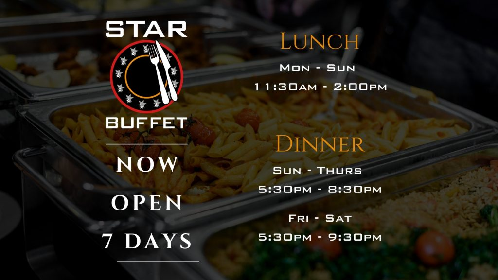 Star Buffet at Penrith RSL - Lunch & Dinner Times