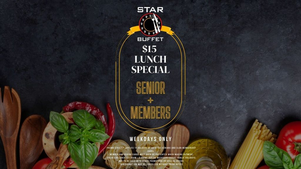 Star Buffet at Penrith RSL. Lunch Specials discounts for Seniors & Members
