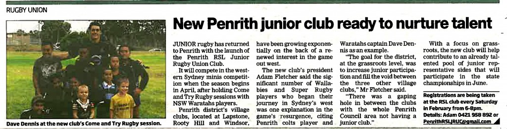 Penrith Press Add 18 Feb 2014