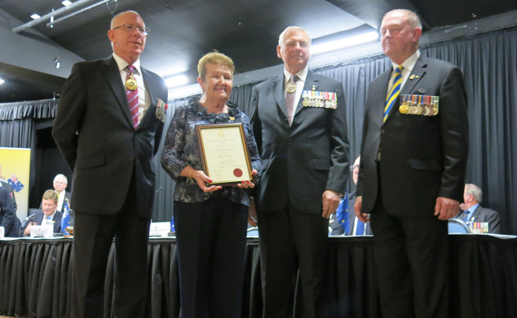 NSW Governor General David Hurley, Carol Prain, RSL National President RADM Ken Doolan and RSL NSW President Rod White