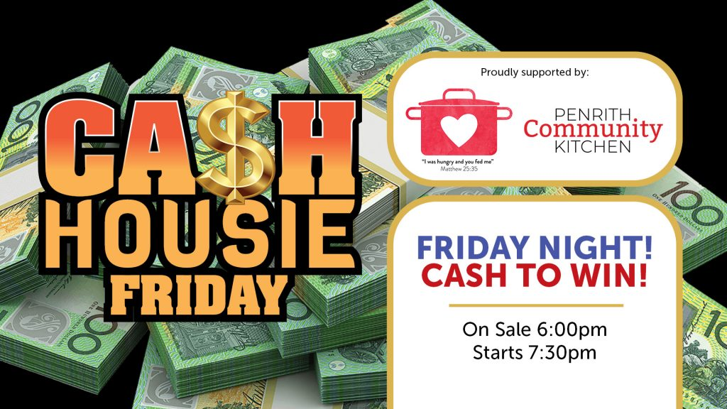 Cashie Housie Friday at Penrith RSL