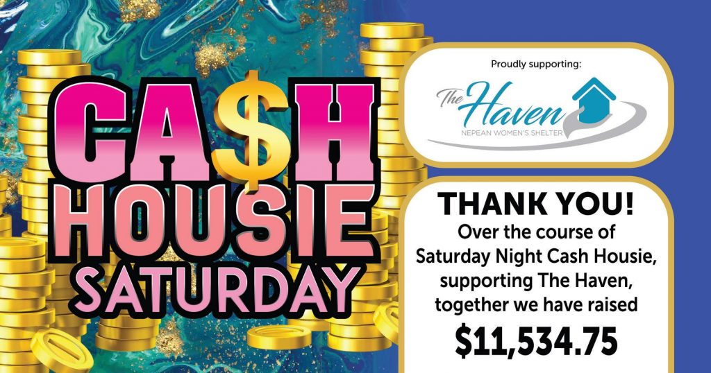 Thank You to everyone who supported Saturday Night Cash Housie at Penrith RSL