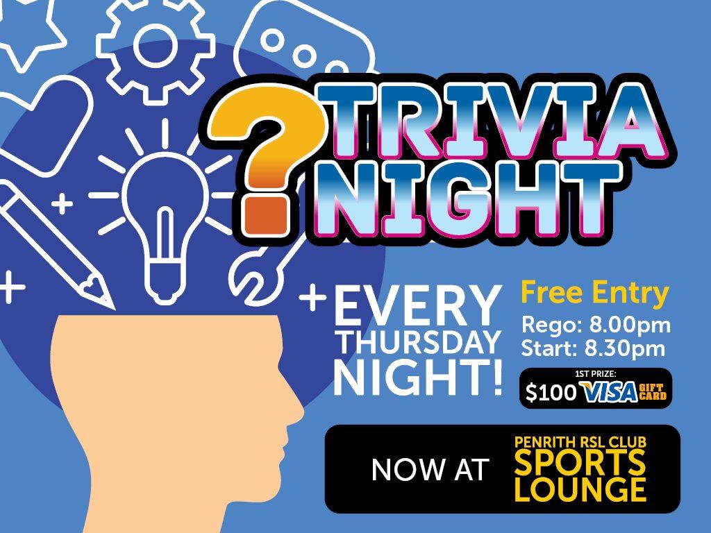 Trivia Night! Every Thursday at Penrith RSL